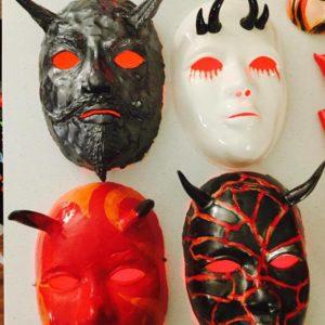 Ceramic Devil Masks